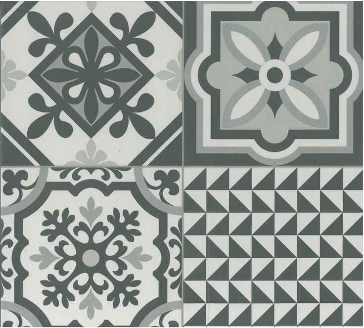 Heritage - Black: One of Waxman Ceramics' newest and most contemporary ranges, the Heritage range comes in three main colours of Grey, Mix and Black. Black incorporates pigments of black and white, with a few hints of grey, in 100 different geometric, monochromatic patterns to offer a porcelain patchwork that is inspired by traditional encaustic style design. For further information visit www.waxmanceramics.co.uk.