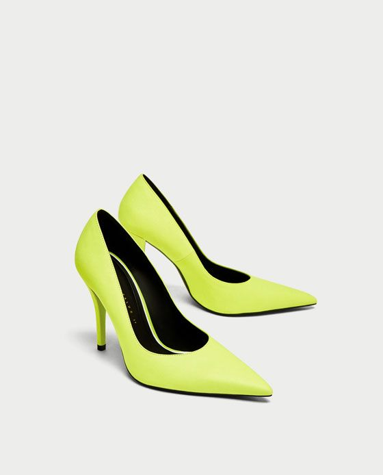 YELLOW HIGH HEEL COURT SHOES from Zara