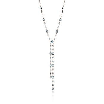 Blue Topaz Lariat Necklace