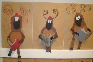 A day in the life of this art teacher: Singing Reindeer. Link didn't load-use pic for reference.