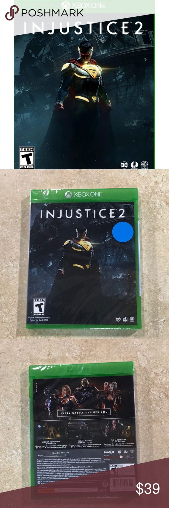 INJUSTICE 2 for Xbox one New never opened injustice 2 video game for xbox one Xbox Other
