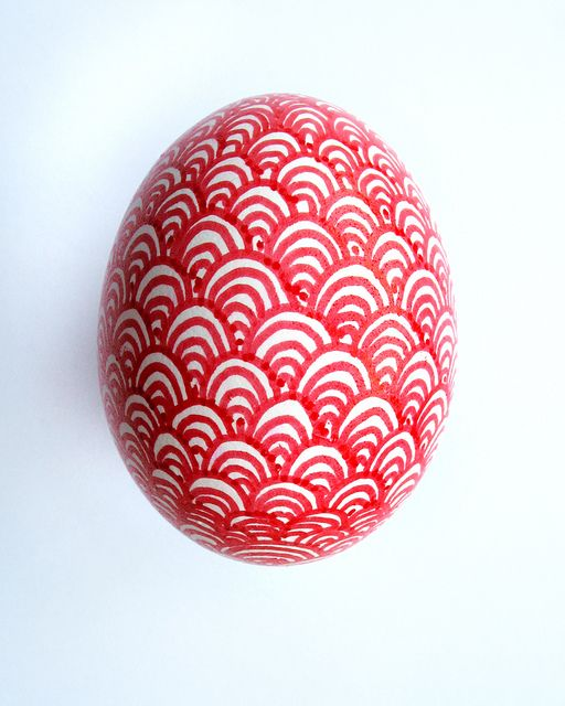 Red sharpie Easter egg.
