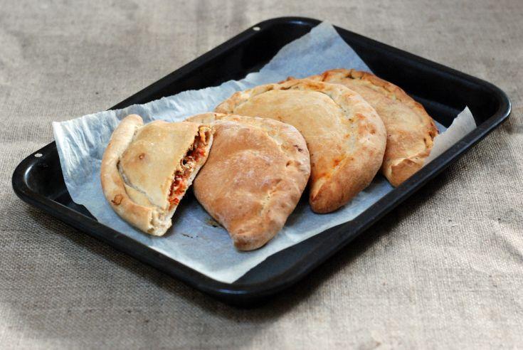 Fotorecept: Calzone- plnená špaldová pizza