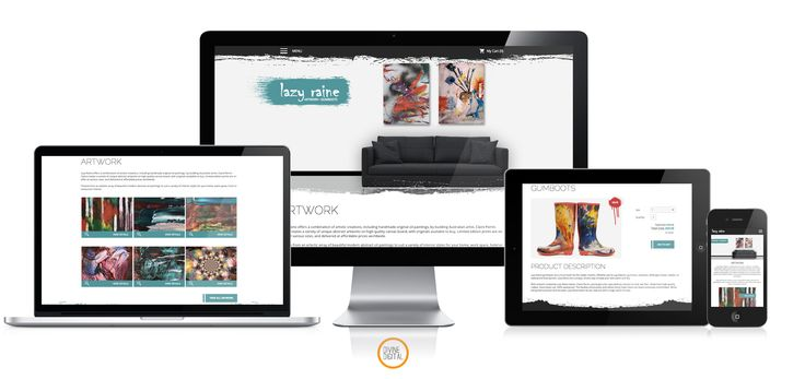 #ecommerce #webdesign by Diving Digital for artist Lazy Raine on #WordPress #WooCommerce #CMS