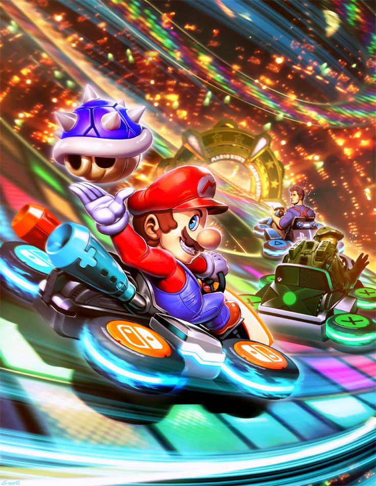 Mario Kart 8 VS Nathan Drake VS Master Chief by GENZOMAN.deviantart.com on @DeviantArt