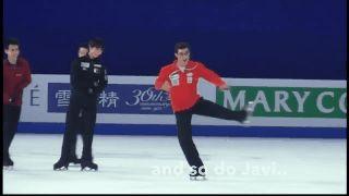 Yuzuru Hanyu and Javier Fernandez marvel over Yulia Lipnitskaya's spins