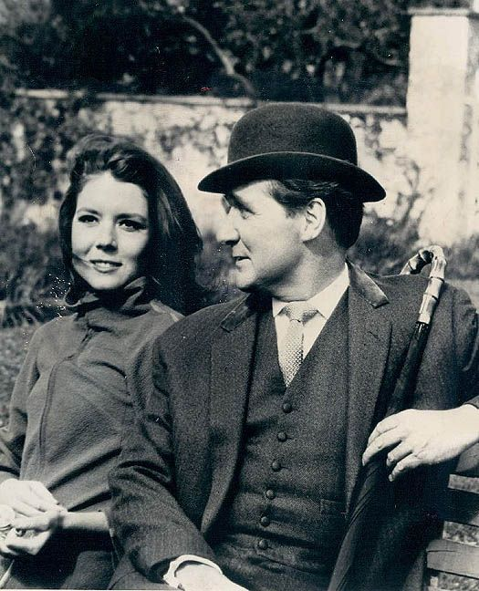 Diana Rigg & Patrick Macnee, The Avengers.  I used to watch this show.