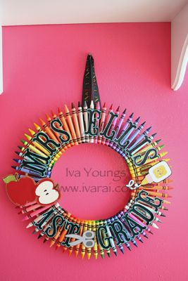 Crayon Wreath! | IvaRai's Scrappy Blog