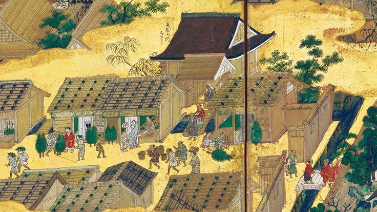 国宝「洛中洛外図屏風 上杉本」(部分)狩野永徳筆室町時代・16世紀米沢市上杉博物館蔵