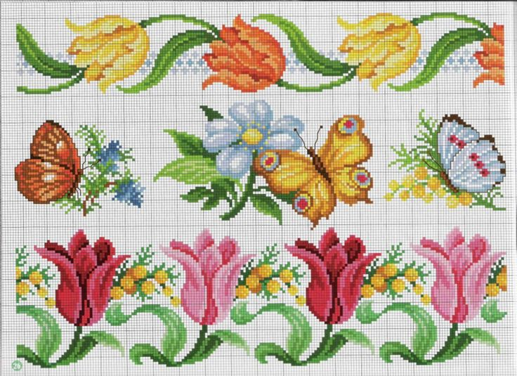 Cross stitch *<3* Point de croix Fleurs