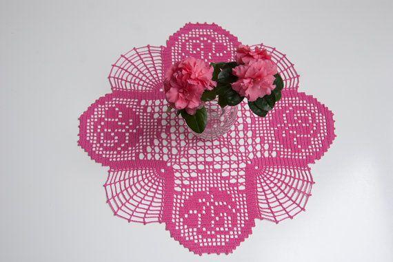 crocheted doily dantel örnekleri örtü