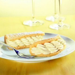 Prosecco krémes piskóta szendvics