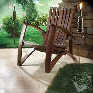 Recommended by Wine Enthusiast. Wine Barrel Stave Adirondack Chair at Wine Enthusiast - $695.00