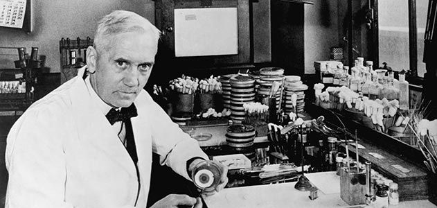Alexander Fleming's creative way of discovering penicillin