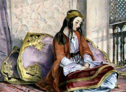 John Frederick Lewis (British Painter, 1804-1876) A Greek Girl (In Private ...    bjws.blogspot.com