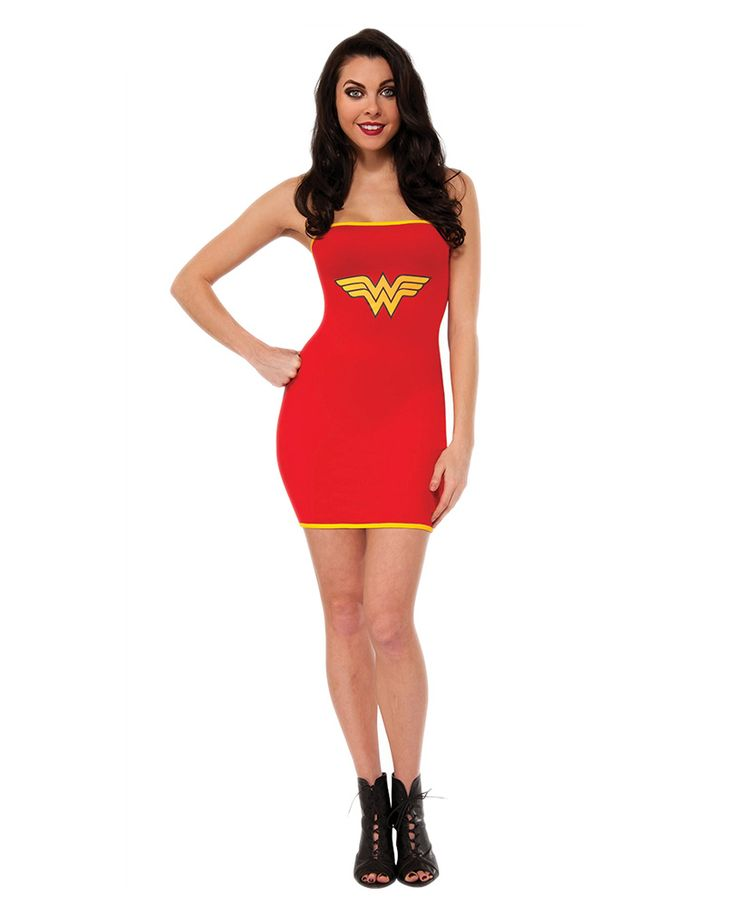 wonder woman stretchkleid horror shop superheroes costume dress dresses tube dress. Black Bedroom Furniture Sets. Home Design Ideas