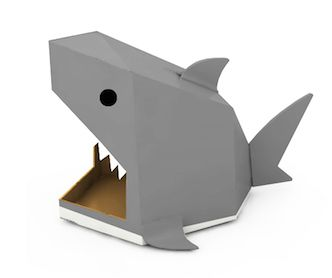 Shark cardboard house! This way even the pets can celebrate with us at our shark party!