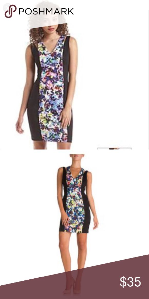 Guess dress Black and floral dress GUESS Dresses Mini