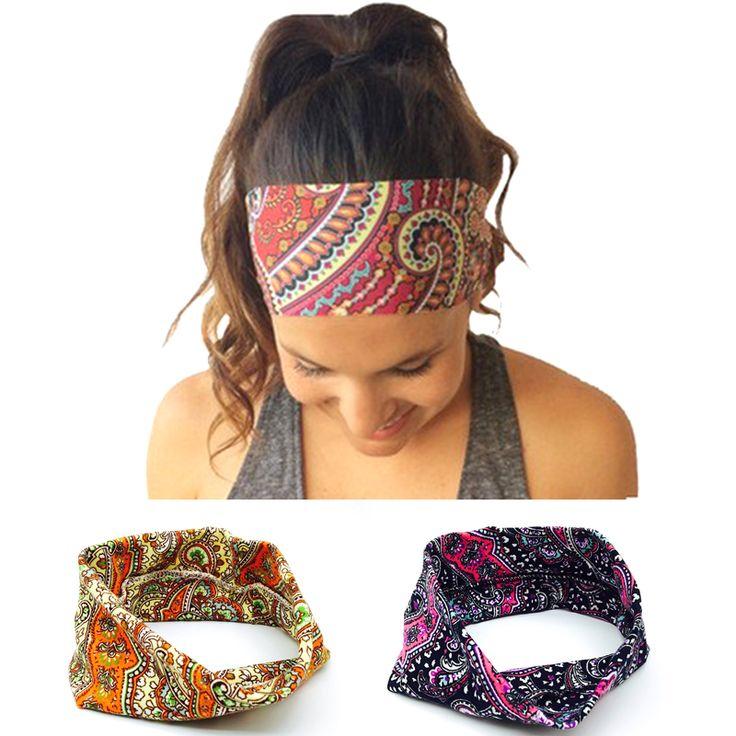 2016 Elastico Turbante dei capelli del nastro headwear cotone un'ampia Donne fascia del fiore Accessori Per Capelli