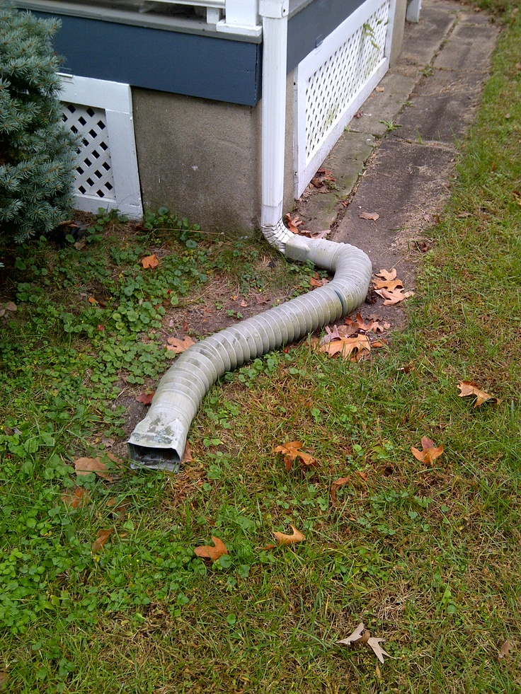 Gutter extension for prevention prevents water from for Downspout drain