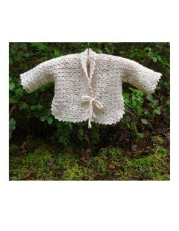 Vintage Inspired Baby Jacket – PB-103 – A crochet pattern from Nancy Brown-Designer. This fabulous little wrap-around jacket is quick and simple to make. A novice crocheter with just a little bit of crochet experience will be able to make this precious baby item. This pattern PDF can be purchased at my LoveCrochet Pattern Store for $3.49, just click on the photo.