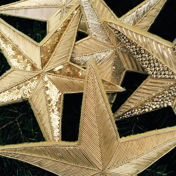 The London Embroidery School Presents The Goldwork Christmas Star Workshop