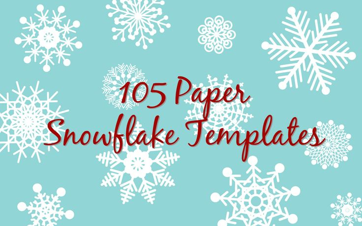 105 Free printable paper snowflake templates to craft into easy folded paper snowflakes.