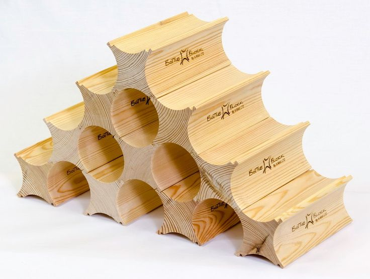 Wine Rack - Bottle Blocks (1 pack) by BottleBlock on Etsy