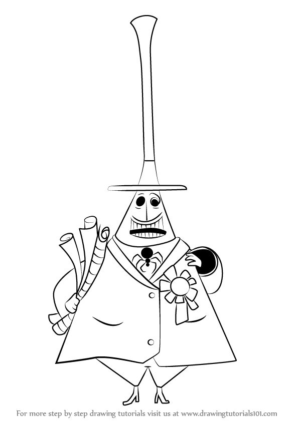 Learn How to Draw Mayor of Halloween Town from The
