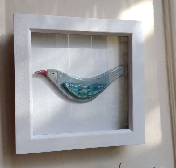 Check out this item in my Etsy shop https://www.etsy.com/uk/listing/481366156/blue-bird-in-white-box-frame