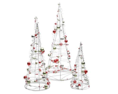 Happy+Holidays+Beaded+Wire+Tree+Set+of+3