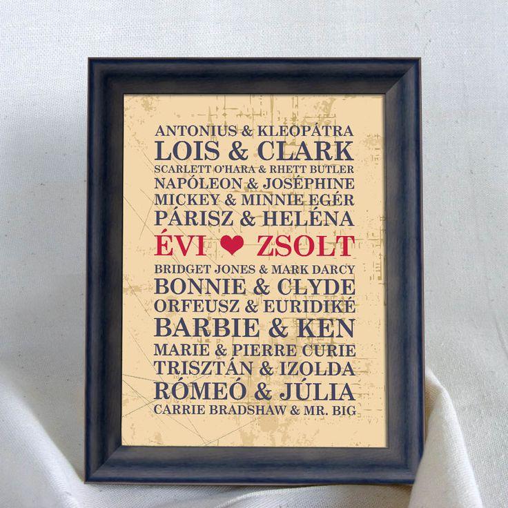 Ajándék Valentin napra, Házassági évfordulóra