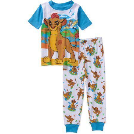 The Lion Guard Toddler Boys Licensed Cotton Pajama Sleepwear Set Size 25 Months Blue