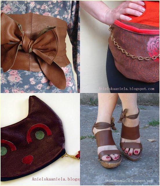 How To Sew With Leather jak szyć skórzane dodatki i jak szyć skórę naturalną Diy