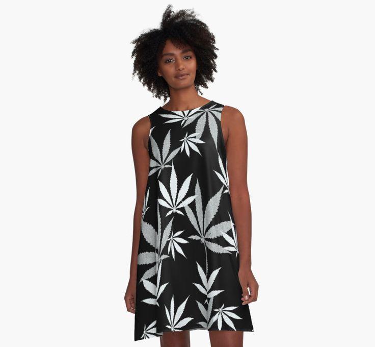 Ganja cut in Fabric BW pattern by cool-shirts