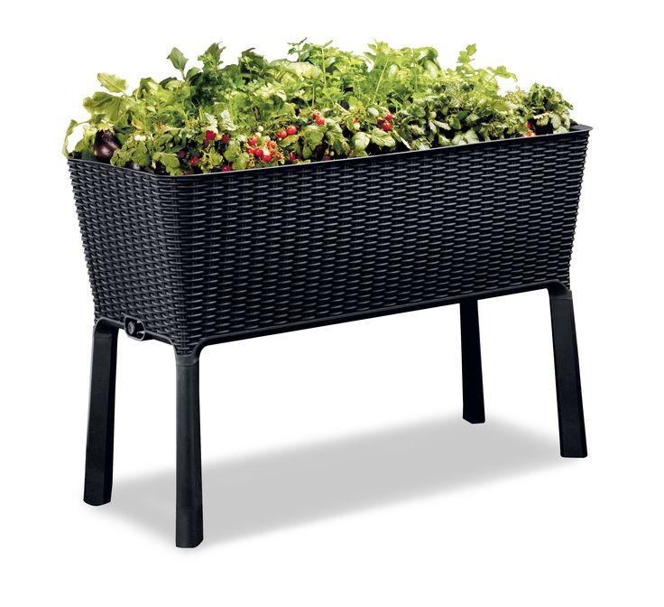 Free Shipping. Buy Keter Easy Grow Resin Elevated Garden, All Weather, Self-Watering Plastic Planter, Brown Rattan at Walmart.com