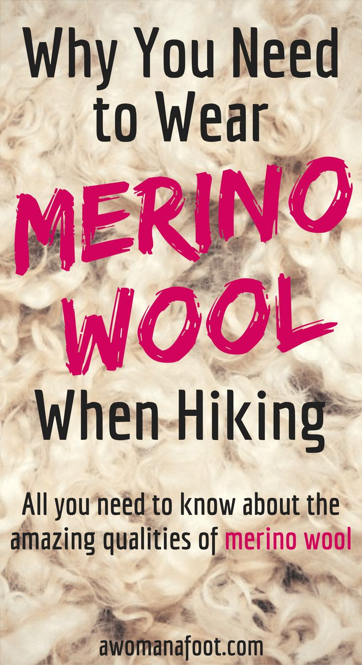 Do you know about all the amazing qualities of merino wool clothing? Read to find out why you need to wear #merino when hiking!   hiking clothes   #hiking #tips   women's #hikinggear   hiking clothes   #whattowear   #outdoors   awomanafoot.com