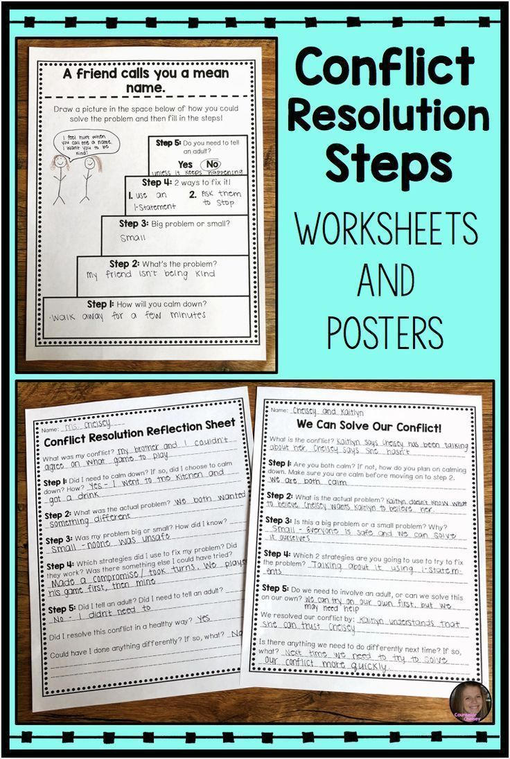 Conflict Resolution Steps In 2020 Conflict Resolution Worksheet School Counseling Lessons Conflict Resolution