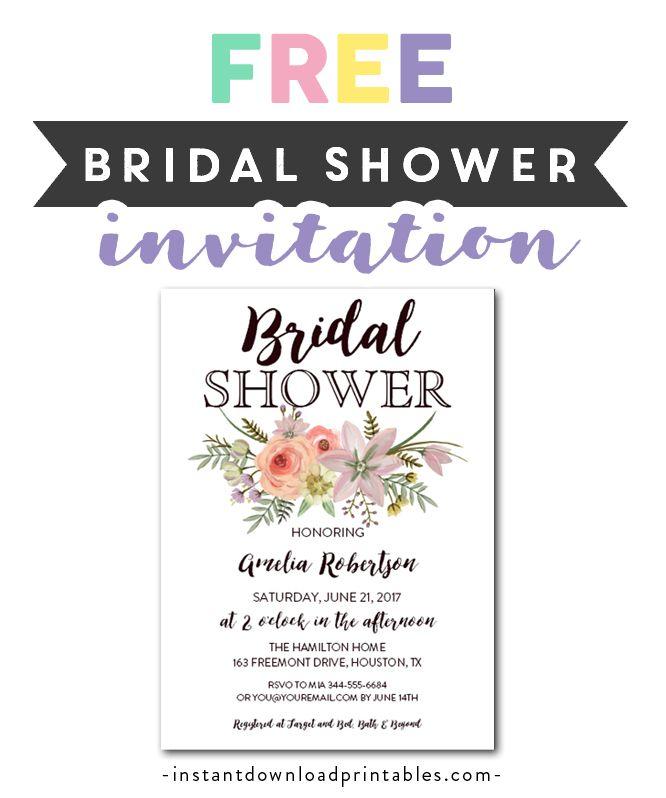 Free Printable Editable Pdf Bridal Shower Invitation Diy