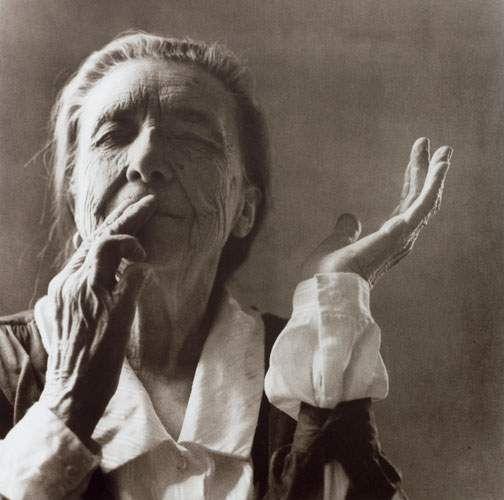 """I am not what I am, I am what I do with my hands."" Louise Bourgeois | Photograph by Yann Charbonnier"