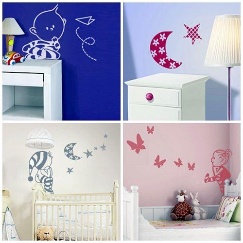 Vinilos para dormitorios de bebes gallery of vinilos para for Pegatinas decorativas para bebes