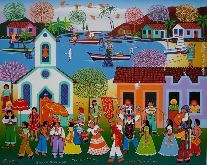 Maracatu Pernambuco - Militão dos Santos: Art Paintings, Arte Naif Art, Naive Arte Ingenuo, Brazilian Arts, Brazilian Art, Naif Art Naive Arte, Naif Folk Art, Art Art Naif Folk