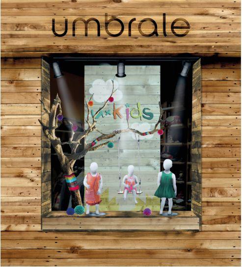 Fotomontaje visual merchandising Umbrale