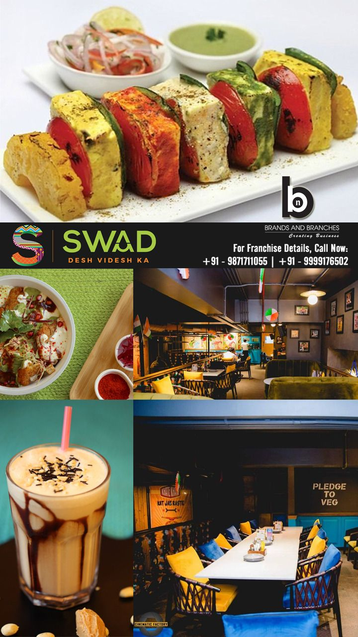 Swad Franchise Opportunity Food And Beverage Industry Veg Restaurant Fast Casual Restaurant