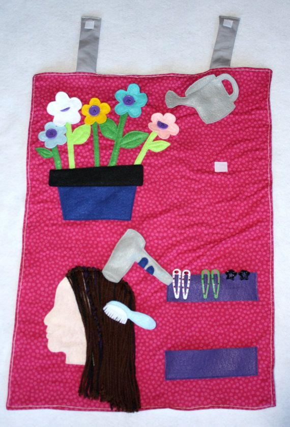 Hairdresser & Flowers Airplane Tray Cover Travel by myraecreations