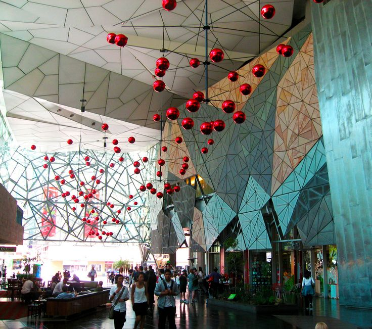 BiGfiSh designed and built these huge mobiles for the Atrium at Federation Square for Christmas 2011. They are so simple and beautiful they have brought them out every year since