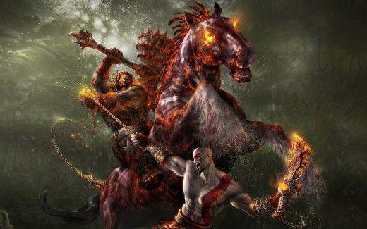 God of War Horse Fight