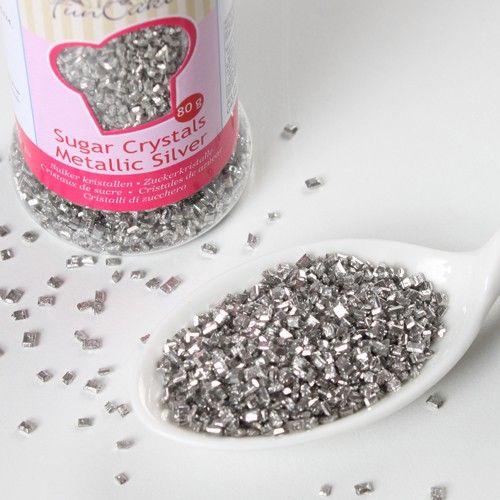 Gekleurde Suiker -Metallic Zilver-