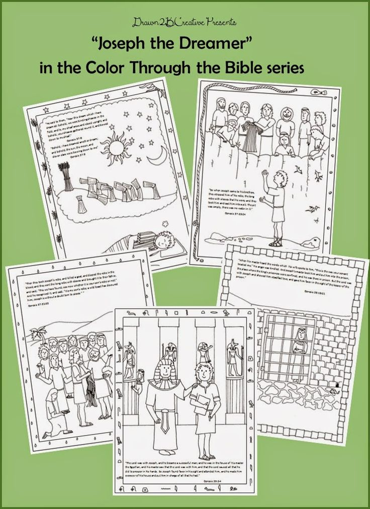 Coloring pages about Joseph (the one who interprets dreams, not Mary's husband)
