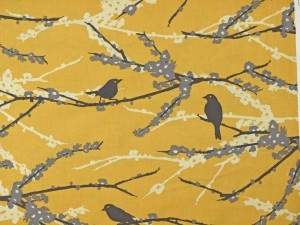 Aviary 2 Sparrows Vintage Yellow beautifulDesign Inspiration, House Inspiration, Patterns Textiles, Sparrows Vintage, Vintage Textiles, Mellow Yellow, Tweets, Vintage Inspiration, Textiles Pattern